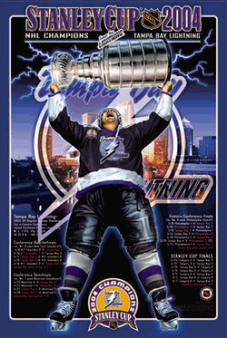 "Tampa Bay Lightning ""Stanley Cup Glory"" Commemorative Poster - Action Images 2004"