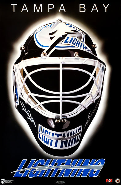 "Tampa Bay Lightning ""Classic Mask"" NHL Hockey Official Team Logo Theme Wall POSTER - Norman James 1994"