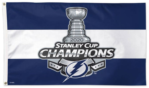 Tampa Bay Lightning 2020 NHL Stanley Cup Champions DELUXE 3'x5' FLAG - Wincraft