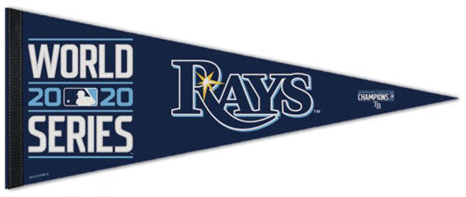 Tampa Bay Rays 2020 World Series Commemorative Premium Felt Collector's Pennant - Wincraft