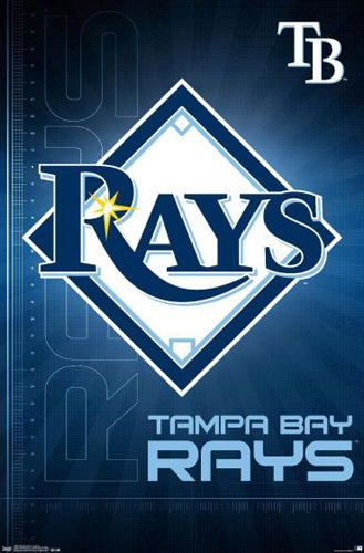 Tampa Bay Rays Official MLB Team Logo Poster - Trends International