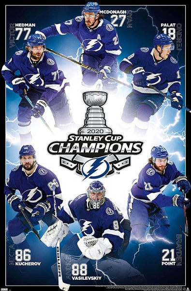 Tampa Bay Lightning 2020 Stanley Cup Champions Commemorative Poster - Trends International
