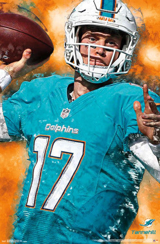 "Ryan Tannehill ""Superstar"" Miami Dolphins QB Official NFL Football Wall Poster - Trends International"