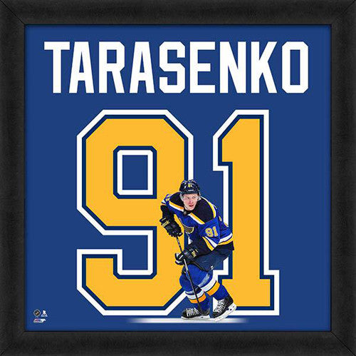 "Vladimir Tarasenko ""Number 91"" St. Louis Blues FRAMED 20x20 UNIFRAME PRINT - Photofile"