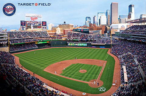 Minnesota Twins Target Field Gameday MLB Baseball Stadium Poster - Costacos Sports