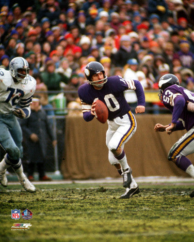 "Fran Tarkenton ""Hall of Fame"" (c.1977) Minnesota Vikings Premium Poster Print - Photofile Inc."