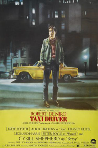 Martin Scorsese's TAXI DRIVER (1976) Classic Movie Poster Reprint (24x36) - Image Source International