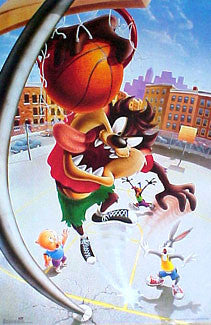 "Looney Tunes Taz ""Crazy Slam"" Basketball Poster - OSP Publishing Ltd."