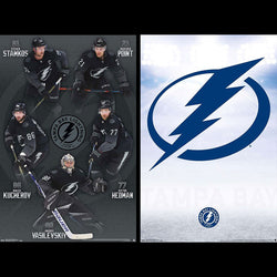 Tampa Bay Lightning 2-Poster Combo Set (5 Superstars, Team Logo Posters) - Trends International