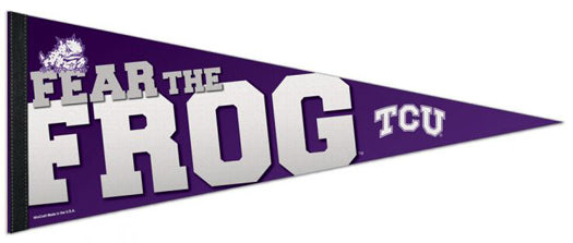 TCU Horned Frogs Official NCAA Team Premium Felt Pennant - Wincraft