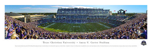 Texas Christian University TCU Football Gameday Panoramic Print - Blakeway 2012