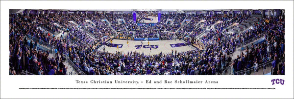 TCU Horned Frogs Basketball Schollmaier Arena Game Night Panoramic Poster Print - Blakeway 2018