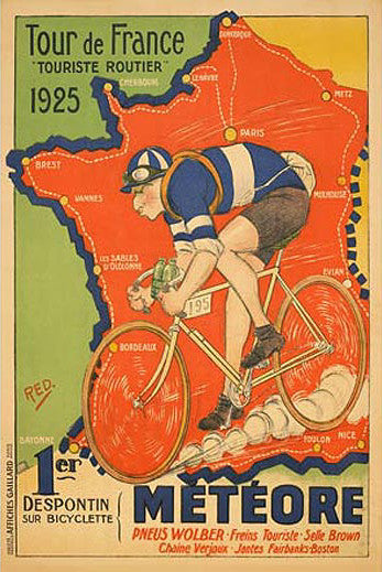 "Tour de France 1925 ""Meteore"" Vintage Cycling Poster Reprint - The Horton Collection"