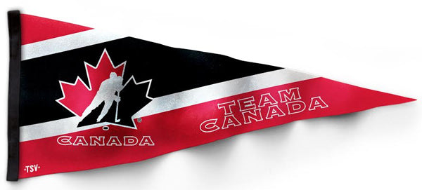 Team Canada Hockey Official Premium Felt Pennant - The Sports Vault Canada