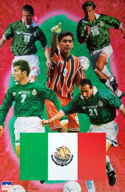 Team Mexico Soccer World Cup 1998 5-Player Action Poster - Starline Inc.