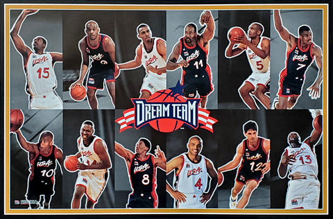 Team USA Basketball 1996 Olympics Dream Team Official Poster (Horizontal) - Costacos Brothers