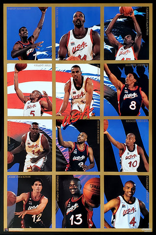 Team USA Basketball 1996 Olympics Dream Team Official Poster - Costacos Brothers