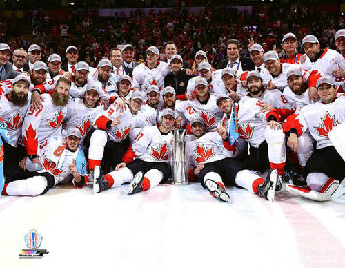 Team Canada Hockey World Cup 2016 Champions Celebration On Ice Team Portrait Poster Print -Photofile