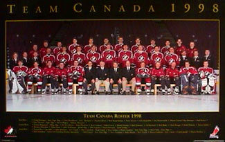 Team Canada 1998 Official Team Poster - Trends International