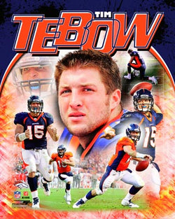 "Tim Tebow ""Sensation"" Denver Broncos Premium Poster Print - Photofile 2011"