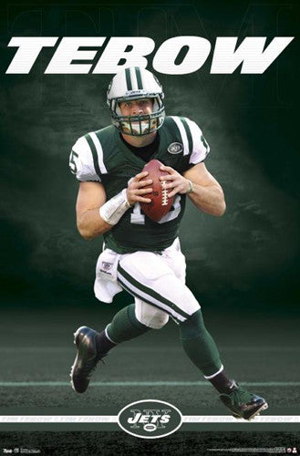 "Tim Tebow ""Green Machine"" New York Jets Poster - Costacos 2012"