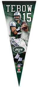 "Tim Tebow ""Signature Series"" NY Jets Premium Felt Collector's Pennant (2012) - Wincraft"