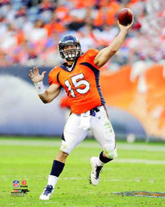 "Tim Tebow ""Orange Action"" (2011) Denver Broncos Premium Poster Print - Photofile 16x20"