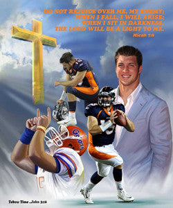 "Tim Tebow ""Tebow Time"" Premium Poster Print - Wishum Gregory 2012"