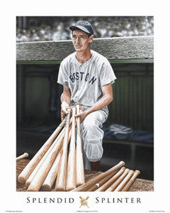 "Ted Williams ""Splendid Splinter"" Art Print by Darryl Vlasak - ISI 2008"