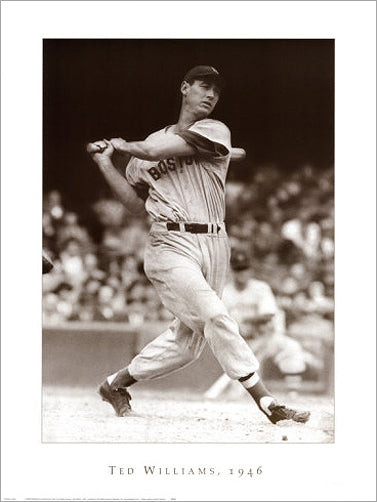 Ted Williams Boston Red Sox 1946 Premium Poster - New York Graphic Society/Everett Collection