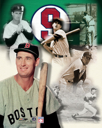 "Ted Williams ""#9 Forever"" Boston Red Sox Premium Poster Print - Photofile Inc."
