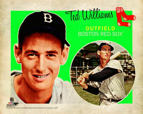 "Ted Williams ""Retro SuperCard"" Boston Red Sox Poster - Photofile 16x20"