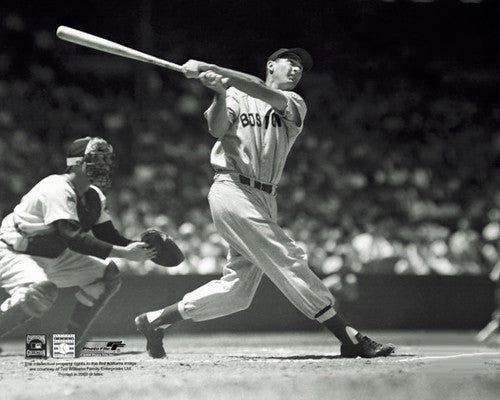 "Ted Williams ""The Perfect Swing"" (c.1954) Boston Red Sox Premium Poster - Photofile"