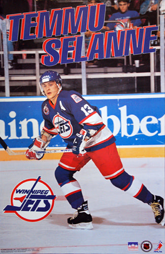 "Teemu Selanne ""Temmu"" Winnipeg Jets NHL Hockey Action Poster - Starline 1993"
