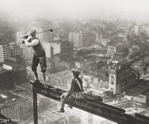 "Golf on a Skyscraper ""Tee Time"" by Charles C. Ebbets Premium Poster - McGaw Graphics"