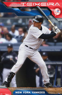 "Mark Teixeira ""Bronx Bomber"" New York Yankees Poster - Costacos 2009"