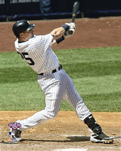 "Mark Teixeira ""Pinstripes Blast"" (2009) - Photofile 16x20"