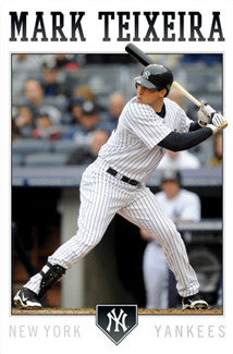"Mark Teixeira ""Pinstripe Power"" New York Yankees Poster - Costacos 2011"