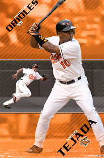 "Miguel Tejada ""Double Action"" Baltimore Orioles Poster - Costacos 2006"