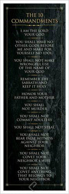 The Ten Commandments (G-d's Laws) - Eurographics Inc.