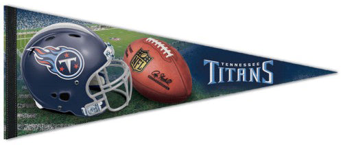 Tennessee Titans Official NFL Helmet-and-Field Style Premium Felt Pennant - Wincraft