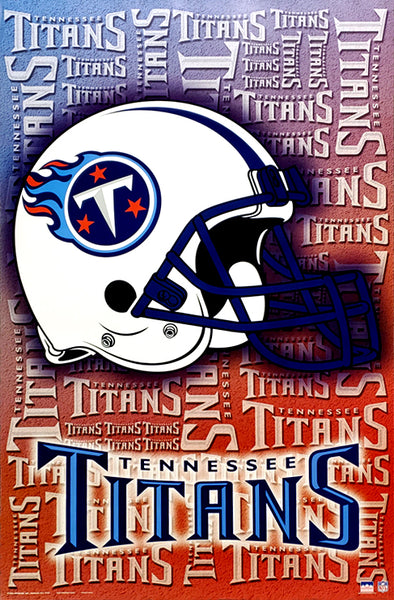 Tennessee Titans Official NFL Football Team Logo Helmet Design Poster - Starline Inc.
