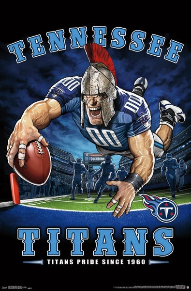 "Tennessee Titans ""Titans Pride Since 1960"" NFL Theme Art Poster - Liquid Blue/Trends Int'l."