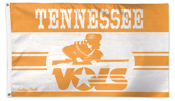 "University of Tennessee Vols ""Patrolman"" Retro 1980s-Style College Vault Collection NCAA Deluxe-Edition 3'x5' Flag"