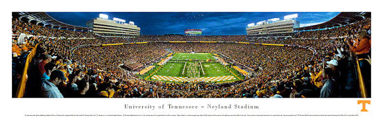 "Tennessee Volunteers Football ""Power T"" Panoramic Poster Print - Blakeway 2012"