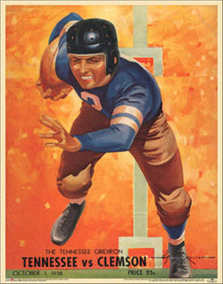 Tennessee Volunteers Football 1938 Vintage Program Cover Poster Print - Asgard Press