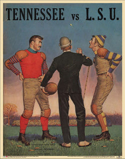 "Tennessee Volunteers vs. LSU Football ""Coin Flip"" (1959) Vintage Program Cover POSTER - Asgard Press"