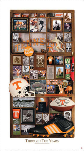 "Tennessee Vols Football ""Through the Years"" Premium Poster Print - Smashgraphix Inc."