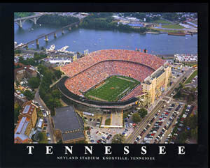 "Tennessee Vols Football Neyland Stadium ""From Above"" Poster Print - Aerial Views 1994"