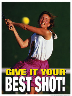 "Tennis ""Give it Your Best Shot"" Motivational Poster - Fitnus Corp."